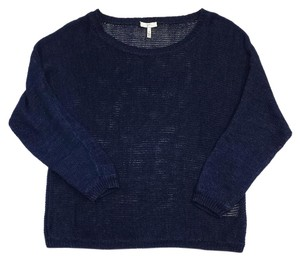 Joie Dark Slue Linen Knit Sweater