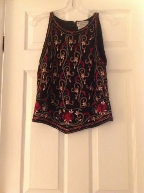 Papell Boutique Top Black and multi