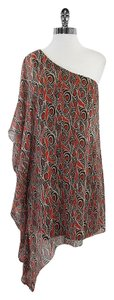 Susana Monaco short dress Brown Red One Shoulder Silk on Tradesy