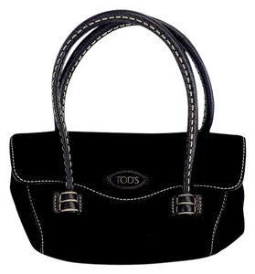 Tod's Black Suede Mini Handbag Mini Handbag Hobo Bag
