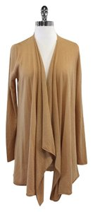 Alice + Olivia Tan Long Draped Open Front Cardigan