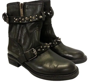 Sam Edelman Rugged Studded Ankle Black Boots