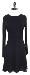 Alice + Olivia short dress Black Long Sleeve Fit & Flare on Tradesy