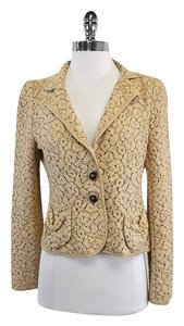 Nanette Lepore Tan Crochet Jacket