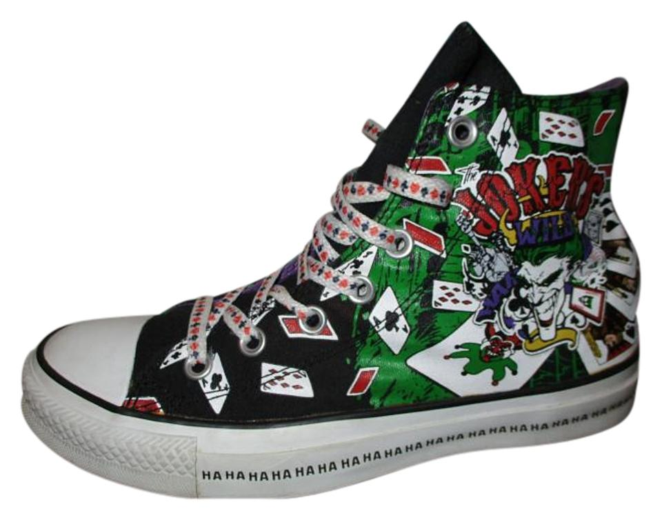 4873a553354c Converse Black Multi Color All Star High Top The Joker Sneakers Size ...