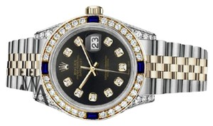 Rolex Women's Rolex 31mmDatejust ChocolateDial Sapphire Diamond Bezel Watch