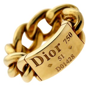 Dior Dior Gold Chain Gourmette Link Ring