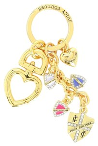 Juicy Couture SHEILD KEY FOB Key Ring Key Chain Purse Charm