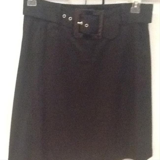 RED Valentino Bow Pleated Belted Skirt Black