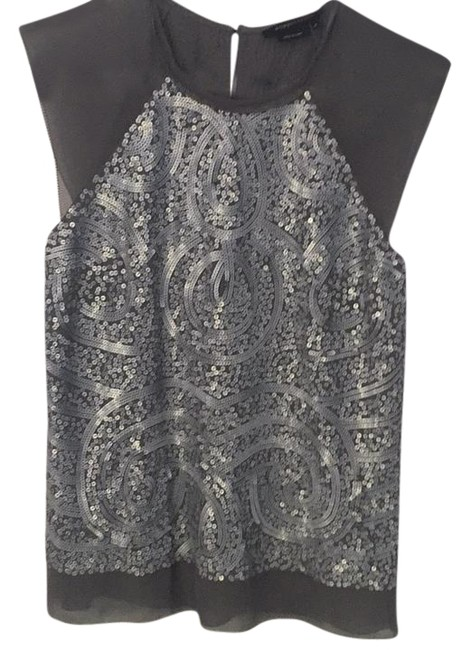 Item - Silver and Dark Gray Top