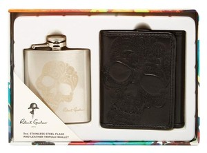 Robert Graham Robert Graham Flask Trifold Wallet Gift Set