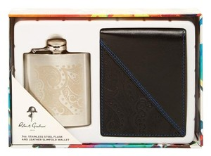 Robert Graham Robert Graham Flask & Slimfold Leather Wallet Gift Set