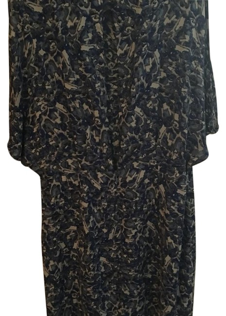 Item - Blue Print Above Knee Night Out Dress Size 4 (S)