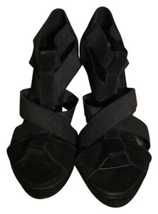 BCBGeneration Black & Silver Platforms
