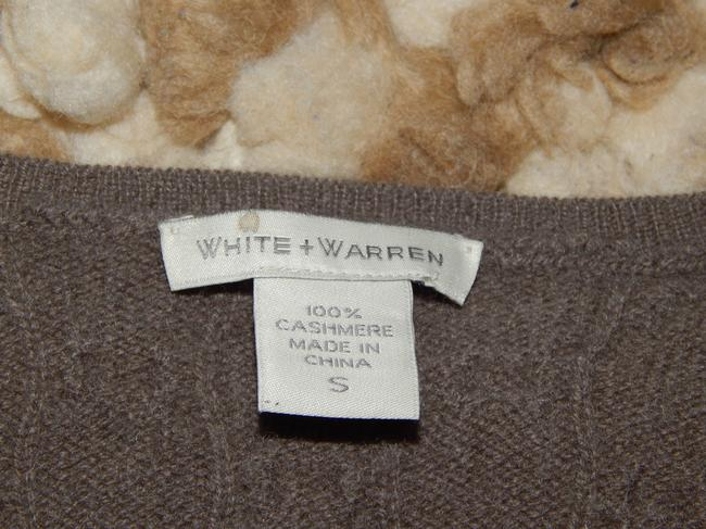 White + Warren Cashmere Cable-knit V-neck Sweater