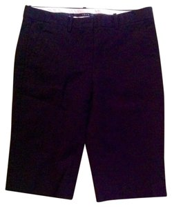 Theory Cotton Lycra Pockets Buttons Shorts Black