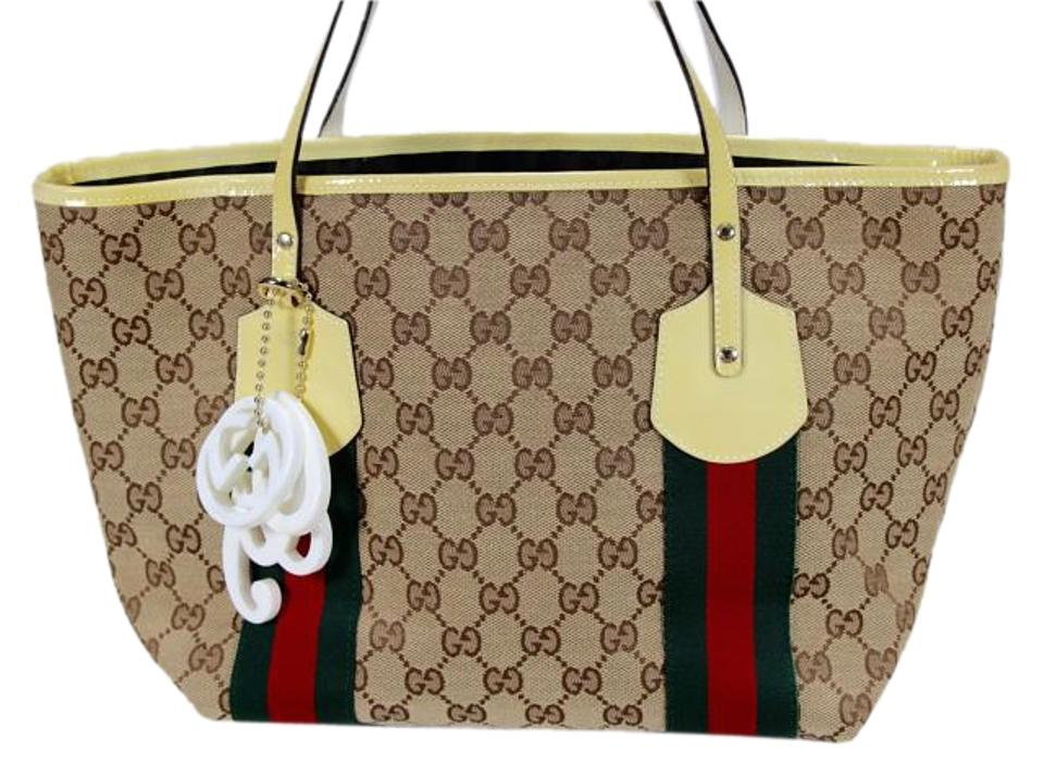 b9df31153e5 Gucci Jolie Gg Beige with Charms and Dust 211971 Brown Monogram ...