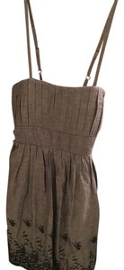 Wet Seal short dress Greyish blue with navy embroidery on Tradesy
