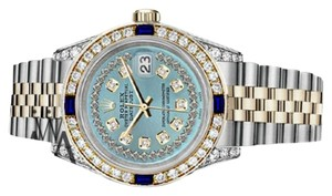 Rolex Rolex 36mm Datejust Ice Blue String Dial Sapphire & Diamond Watch