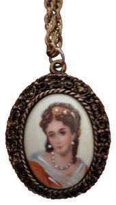 limoges limoges made in France vintage porcelain pendant necklace