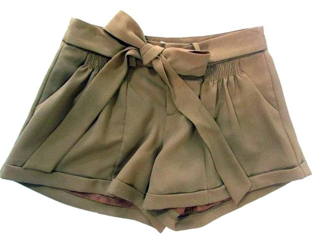 Item - Beige Pleated Front Tie Shorts Size 0 (XS, 25)