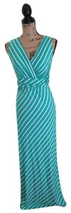 Mint & White Striped Maxi Dress by Modern Vintage Boutique
