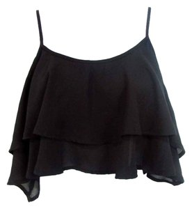 Show Me Your Mumu Ruffled Tiered Top Black