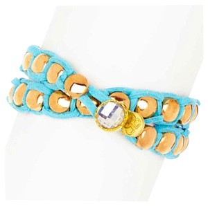 Bansri Bansri Statement Wrap Bracelet 18K Gold Plated Bexel Set Swarovski Crystal