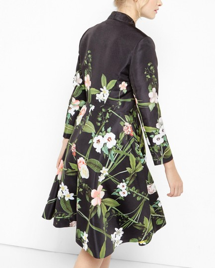 c3f465f08d Ted Baker Giova Secret Trellis Textured Pea Coat Cape - 44% Off Retail well-
