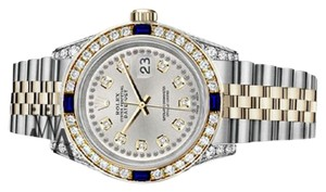 Rolex Women's Rolex 31mm Datejust SilverString Dial Sapphire & Diamond Watch