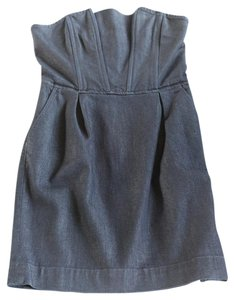 7 For All Mankind short dress Denim Pleated Summery on Tradesy