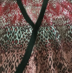 KUT from the Kloth Chiffon Glam Top red leopard multi