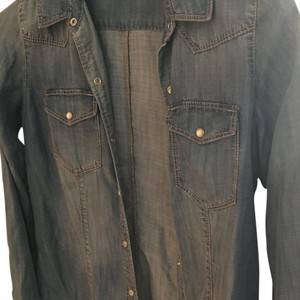 Trouvé Trouve' Longsleeve Button Down Shirt faded denim blue