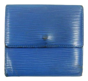 Louis Vuitton Blue Epi Coated Leather Porte-Monnaie Cartes Trifold Wallet France