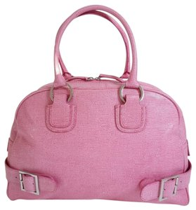 Casual Corner Leather Large Summer Beach Tote in Pink