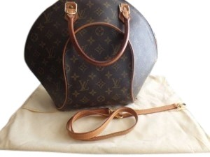 Louis Vuitton Monogram Ellipse Leather Satchel in Brown