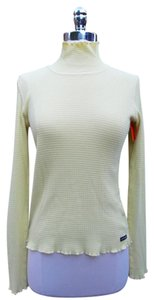 Athleta Ribbed Moc Neck Longsleeve Ruffled Top