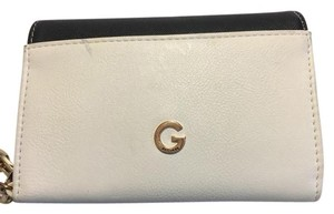Guess Cell Phone Wallet Chain Wristlet in White Black