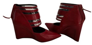 Derek Lam #pointy Toe #leather Red Wedges