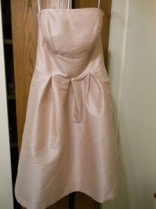Alfred Sung Pearl Pink Dupioni D446 Feminine Bridesmaid/Mob Dress Size 6 (S)