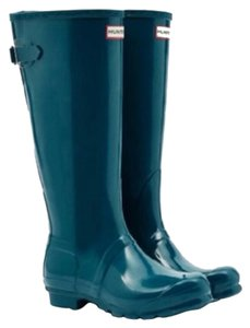 Women's Original Tall Gloss Rainboot Hunter Waterproof Teal Peacock Teal/Lagoon Boots
