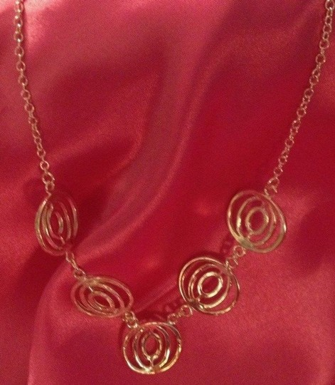 "Ann Taylor LOFT Silver Tone,"" Circle Groups"" Necklace, 18"", Beautiful on!"
