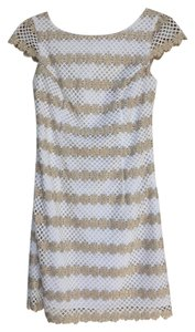 Lilly Pulitzer short dress Gold and White Metallic on Tradesy