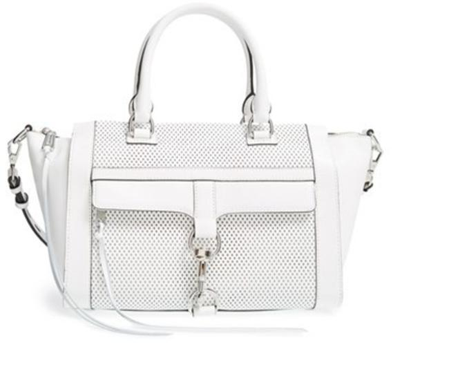 Rebecca Minkoff Two-way White Leather Shoulder Bag Rebecca Minkoff Two-way White Leather Shoulder Bag Image 1