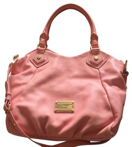 Marc Jacobs Leather Classic Gold Hardware Satchel in Pink