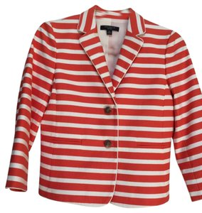 Ann Taylor Orange cream stripe Blazer