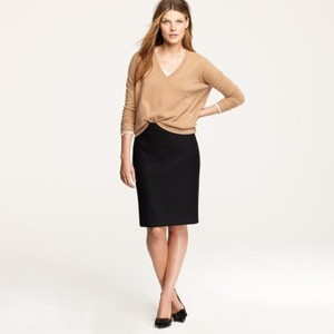 J.Crew Pencil Length Skirt beige and mustard