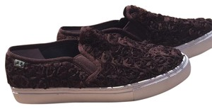 Tory Burch Slip On Casual Rossette Roses Brown, brick Athletic