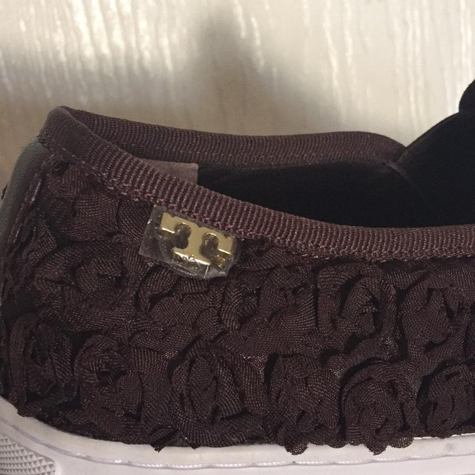 32a76bd91e4 Tory Burch Brown Brick Rosette Slip On Sneaker Sneakers Size US 8.5 ...
