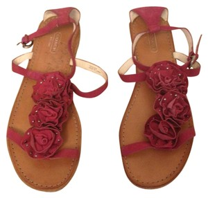Coach Leather Pink Rose Sandals